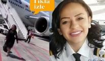 Pilot Elif Güveyler,Kameralara yakalandı!