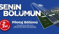 Pilotaj Bölümü uçuş eğitim ücreti 1 Euro-7,80 TL