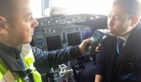 Pilotlara Havalimanı'nda Alkol testi yapıldı!
