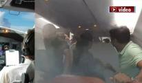Pilottan yolculara klimalı şiddet!video
