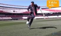 River Plate stadında lker Aycı topla şov yaptı!