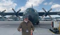 Romanya'ya C-130 tipi nakliye uçağı Atatürk Havalimanı'nda