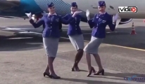 Rus hostesler de o akıma uydu!video