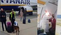 #Ryanair yolcu uçağına 'bomba ihbarı'video