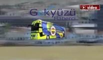 FB Otobüsü Sabiha Gökçen'e iniş yaptı !video