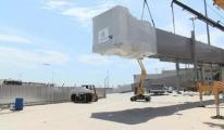 Sabiha Gökçen iç hatlar ek terminalinde köprü montajına başlandı