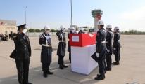 Şehit uzman çavuş Güneş için Elazığ Havalimanı'nda tören