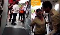 Seyahat edeceği uçağın pilotu oğlu çıktı