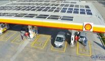 Shell'den, enerjisini güneşten alan istasyon