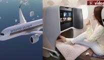 Singapur Havayolları'nda uçuş keyfi!video