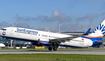 SunExpress uçağı arıza nedeniyle Frankfurt'a indi!