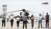 TAI çalışanları Erdoğan'a selam gönderdi!video
