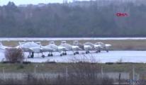 Tekirdağ'da fırtına; eğitim uçuşları iptal edildi(video)