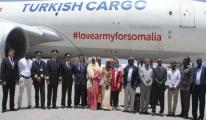 THY, 60 Tonluk Yardım Malzemesini Somali'ye Götürdü