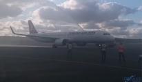 THY A321neo İstanbul Havalimanı'na inişini yaptı