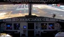 THY Ankara uçağı 3.Havalimanı'na böyle indi!video