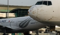 THY kargo uçağı acil iniş yaptı (video)
