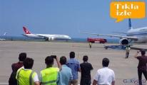 THY'nin rüya uçağı Trabzon'a uçtu. .