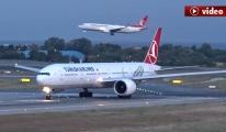 THY pilotu: Kuşa çarptık! video