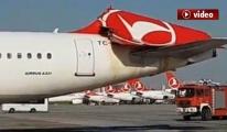 THY uçağı büyük tehlike atlattı!video