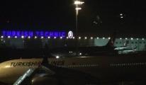 THY uçağı Havalimanı'na acil iniş yaptı