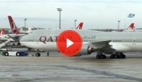 THY Uçağı, Katar Emiri'nin Uçağına Çarptı