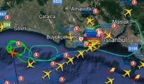 THY uçağı Marmara Denizi üzerinde bekliyor
