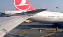 #THY ve MEA uçağı apronda çarpıştı