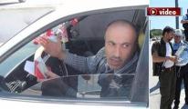 Trafik cezası kesilince drona küfretti!video