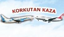 Türk Hava Yolları'nda korkutan kaza...