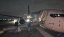 Video Türk Hava Yolları uçağı pistten çıktı!