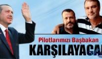 Türk pilotlarını Atatürk Havalimanı'nda Erdoğan karşılayacak