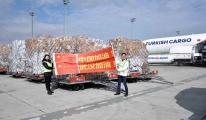 Turkish Cargo, Çin'e insani ve tıbbi yardım malzemesi taşıdı