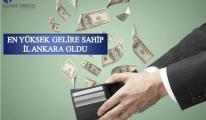 Türkiye'nin En Yüksek Gelire Sahip İli Ankara Oldu