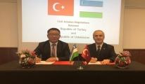 Türkiye ve Özbekistan Yeni Uçuşlar için Anlaştı...