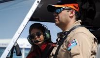 Türkiye'nin İlk Lisanslı Sivil Kadın Helikopter Pilotu