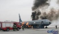 Türkiye'nin ilk uçak yangın eğitim merkezi açıldı.