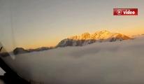 Uçağın Pilot Kabininden Çekilen Video