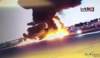 Uçak düştü Pilot hayatını kaybetti!(video)