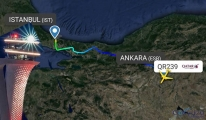 Uçak İstanbul havalimanı'na inemedi!