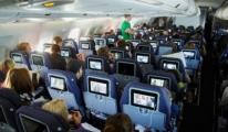 Uçakta canlı TV yayını!