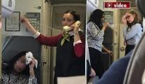 Uçakta Sıcaklık 50 dereceye çıktı!video