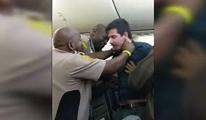 Uçakta yolcuya şok tabancası ile müdahale!