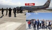 Ulaştırma Bakanı Bilgin Yüksekova Havaalanı'nda