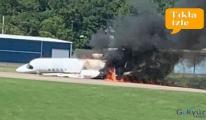 Ünlü yarışçı ve ailesinin bulunduğu uçak kaza yaptı!