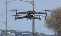 Üsküdar sahilinde drone ile denetim