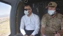 Vali, helikopterle trafik denetimine katıldı