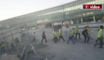 video 3. Havalimanı'nda ilginç görüntü!