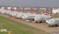 video American Airlines,filosu Tulsa Havalimanı'nda