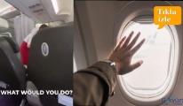 video Atlasglobal uçağında cam açıp kapatma çekişmesi